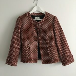 Ann Taylor Loft Winter Wool Blend Plaid Blazer